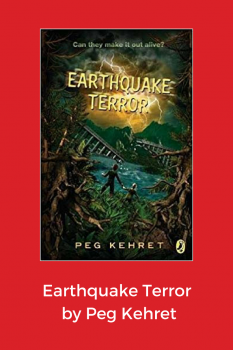 cover of earthquake terror by Peg Kehret