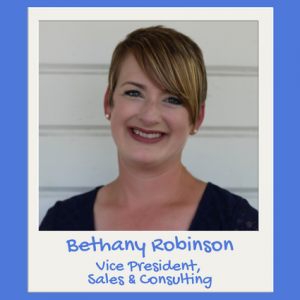 Bethany Robinson, vice president of sales & consulting headshot