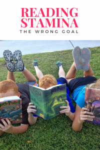 cover of Reading stamina the wrong goal