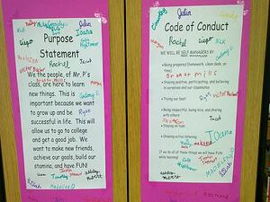 student code of conduct poster in a classroom