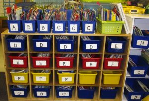 Guided Reading bins, levels A-J for students in the classroom