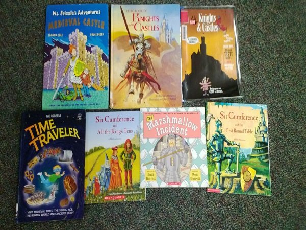 library books on castles and knights